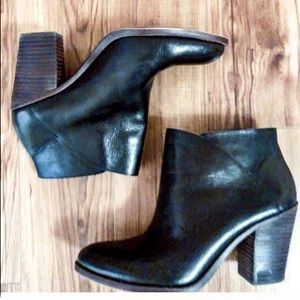 Lucky Brand Black Leather Ankle Boots